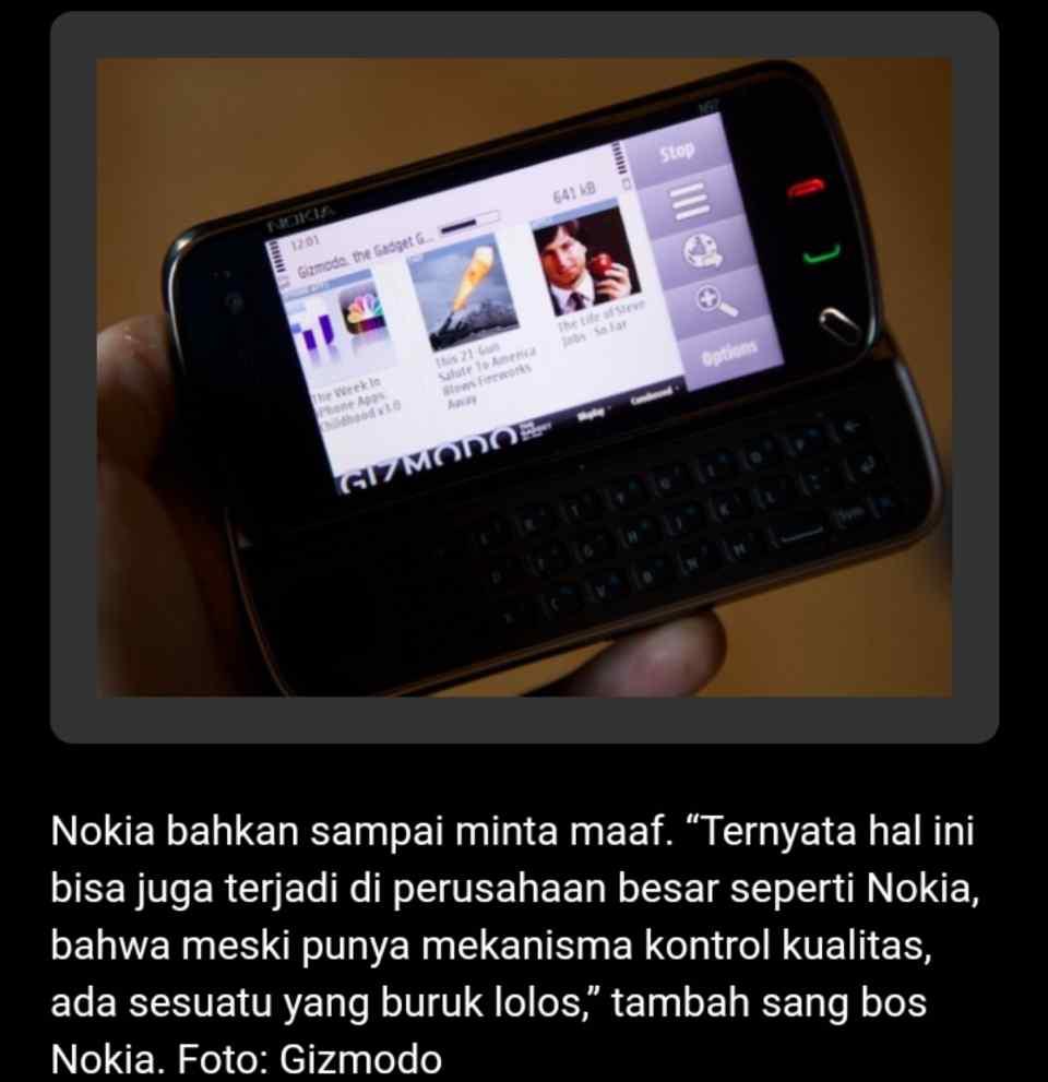 Nokia N97  Hendak Menjegal iPhone Justru Malah Terkapar Thoyron.Com