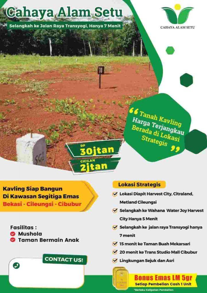 Murahnya Investasi Tanah Kavling Di Bekasi, Disain Suka-suka